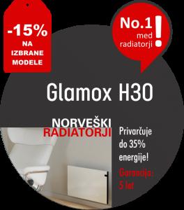 Varčni električni radiatorji - Glamox H30